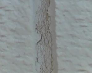 細かいヒビ