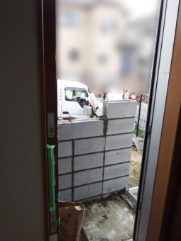 門柱下地ブロック