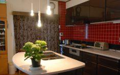キッチンにペンダント照明